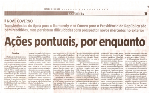 Jornal Estado de Minas junho 2016 - Caderno Economia